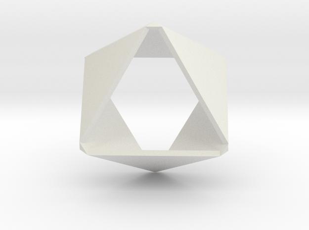 Folded Hexagon in White Natural Versatile Plastic