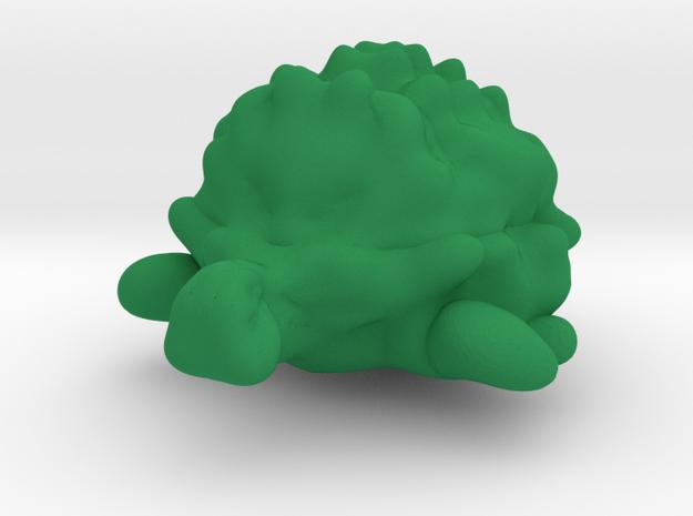 Turtle (repaired) in Green Processed Versatile Plastic