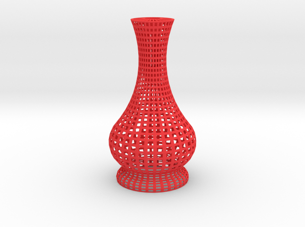 Candle Holder Square in Red Processed Versatile Plastic