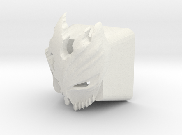 Cherry MX Kurosaki Mask Keycap in White Natural Versatile Plastic