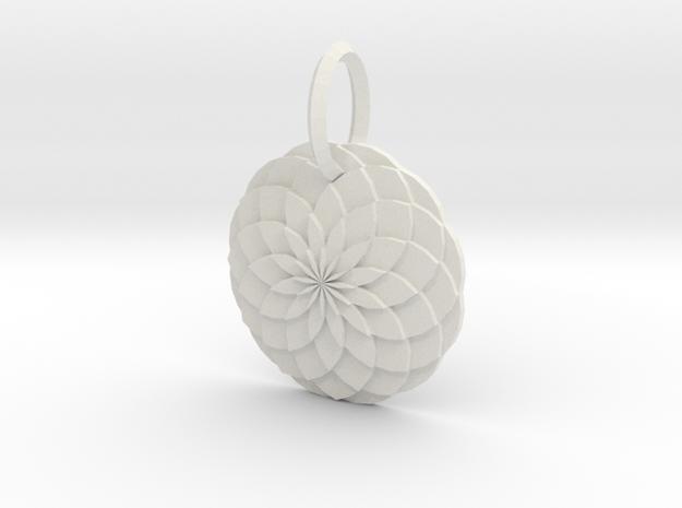 Sacred geometry Pendant  in White Natural Versatile Plastic