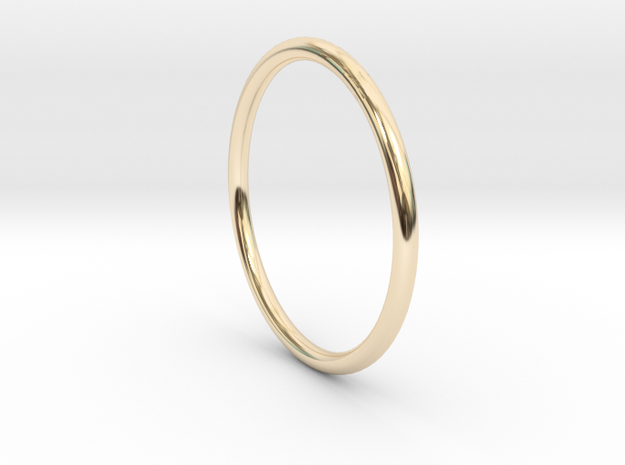 Round One Ring - Sz. 6 in 14K Yellow Gold