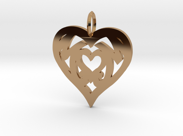 Mom love pendant 1.5 inch 3d printed