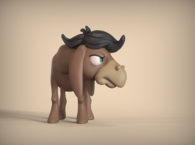 Cranky Doodle Donkey - My Little Pony in Full Color Sandstone