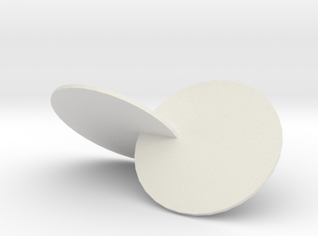 Wobbly Circles in White Natural Versatile Plastic