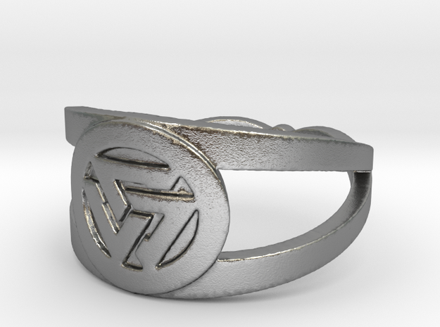 Valknut insignia ring Ring Size 7 in Natural Silver