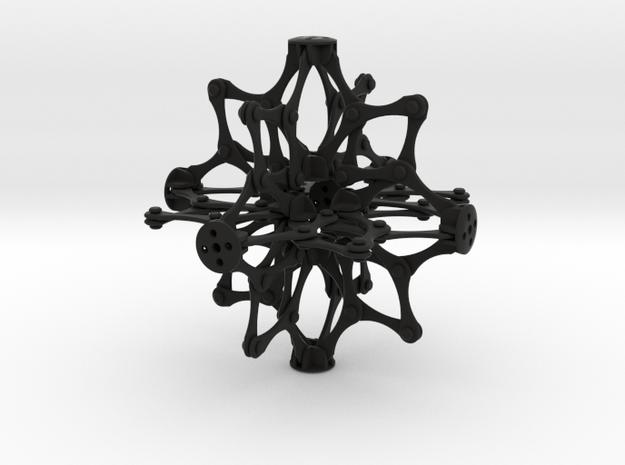 Hoberman Sphere  in Black Natural Versatile Plastic