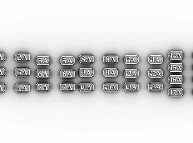 NA Number Plates(O/1:48) in White Natural Versatile Plastic
