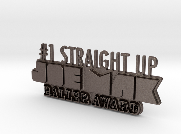 JoeMak Baller Award in Polished Bronzed Silver Steel
