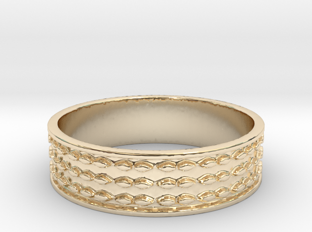 Beads (Size 6.5) in 14K Yellow Gold
