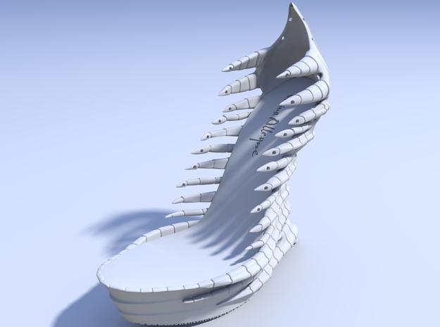Janina Alleyne - Reptile Shoe 3d printed Render 1