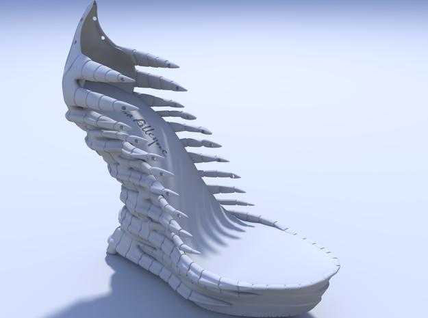 Janina Alleyne - Reptile Shoe 3d printed Render 2