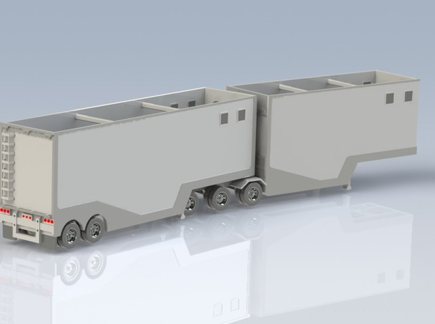 N scale 1/160 Woodchip B-train trailer