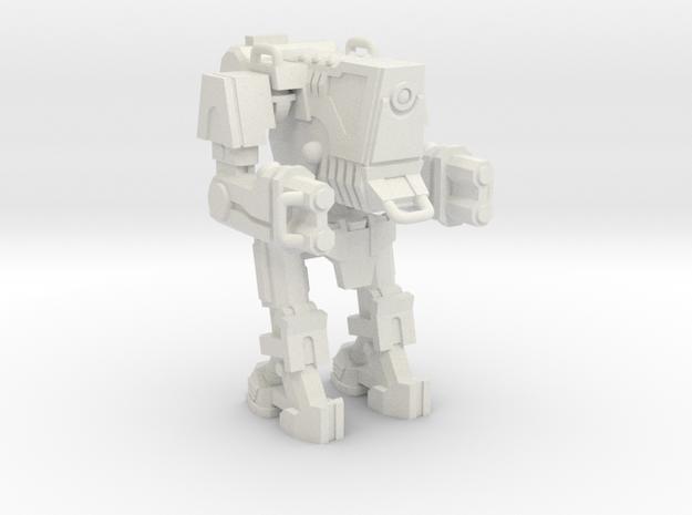 1/87 Scale Wofenstain Boss Robot in White Strong & Flexible