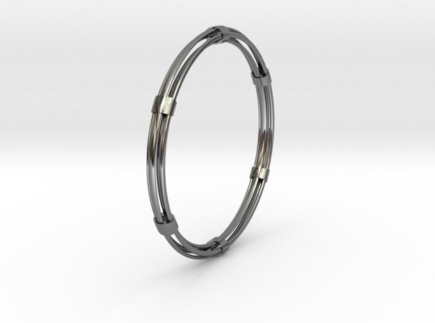 CircuitoCuatroPrecious in Fine Detail Polished Silver
