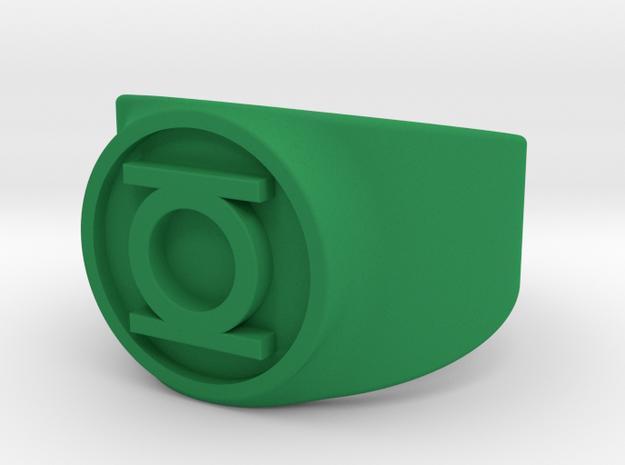 Original Hal GL Ring Sz 10 in Green Processed Versatile Plastic