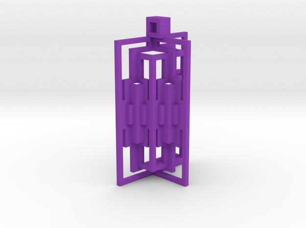 180 Pop Up Pendant in Purple Processed Versatile Plastic