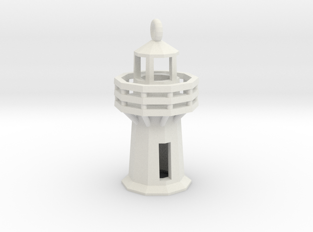 Lighthouse Pendant in White Natural Versatile Plastic