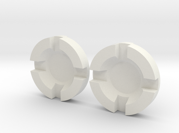 Thruster Center Insert Pairs in White Natural Versatile Plastic