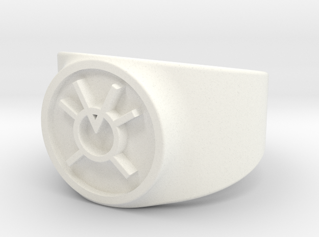 Orange Avarice GL Ring Sz 11 in White Processed Versatile Plastic