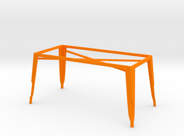 1:12 Pauchard Dining Table Frame, Large in Orange Processed Versatile Plastic