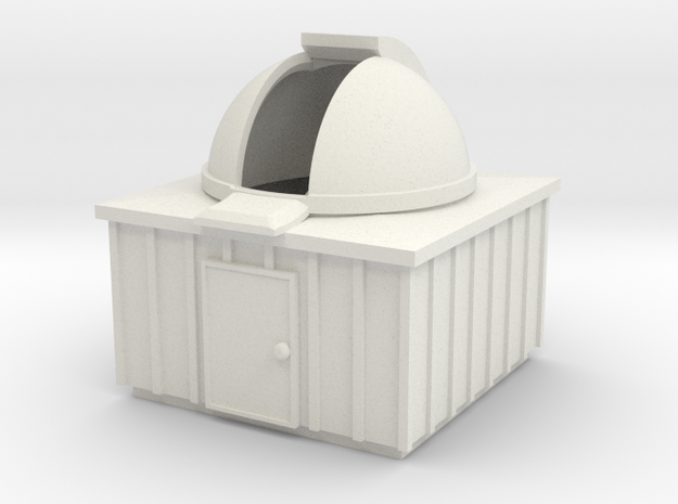 N Scale Observatory in White Natural Versatile Plastic