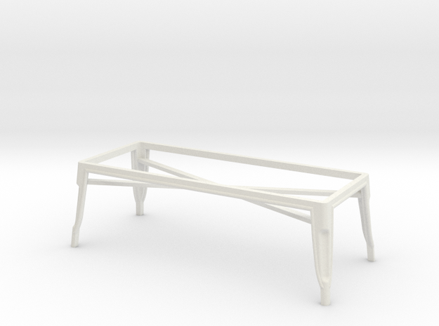 1:24 Pauchard Coffee Table Frame in White Natural Versatile Plastic