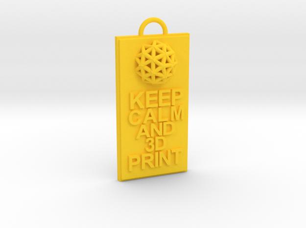 Keep Calm and 3D Print (Hypercube) Keychain