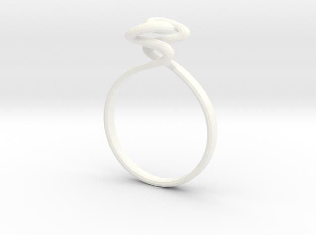 Torus Ring Size US 6 (16.5mm) in White Processed Versatile Plastic