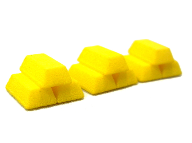 Stacked Gold Bars in Yellow Strong & Flexible Polished