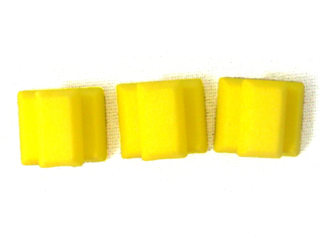 Gold Replacements for Tzolk'in, Set of 30 3d printed Photo Polished Yellow Plastic