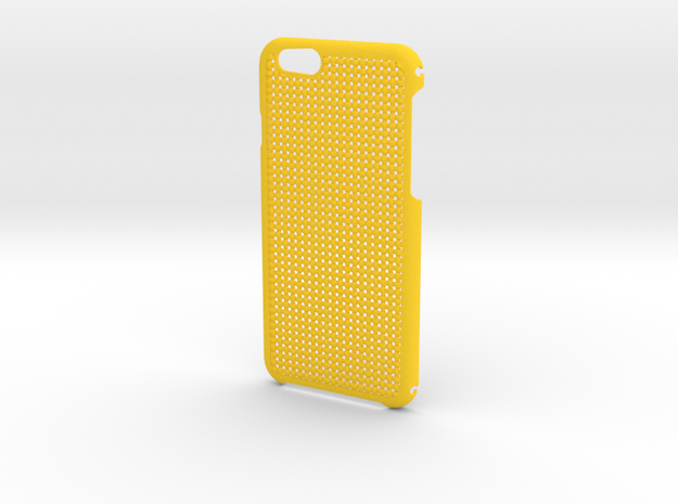 iPhone 6 Weave Case in Yellow Strong & Flexible Polished
