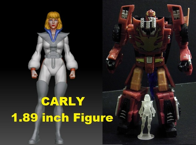 Carly homage Space Woman 1.89inch Transformers Min in Frosted Ultra Detail