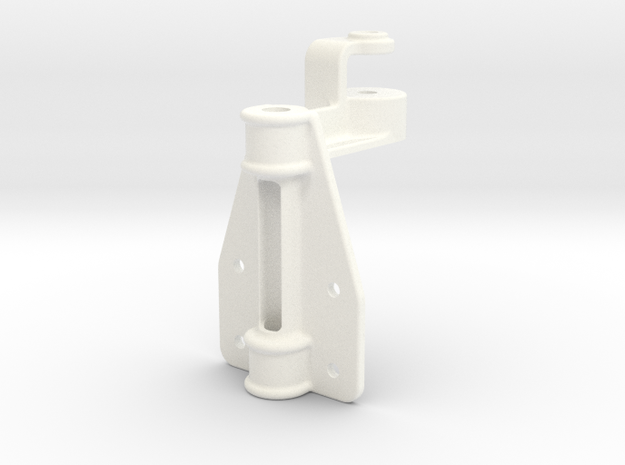 "D&RG Upper Brake Mast Bracket - 2.5"" scale in White Processed Versatile Plastic"