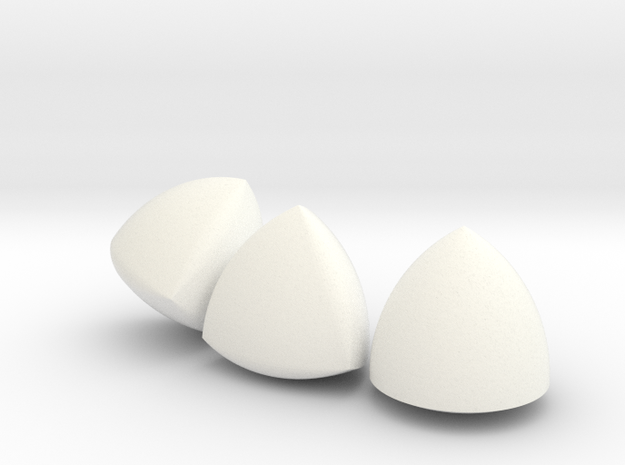 [Small] 3 Different Solids Of Constant Width in White Processed Versatile Plastic