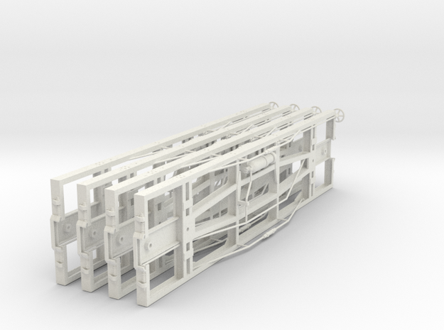 VR narrow gauge 19' underframe in White Strong & Flexible