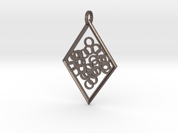 Elegant Pendant in Polished Bronzed Silver Steel
