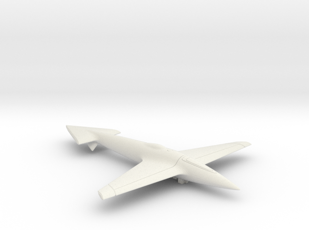 Uni-Dir Slim Plane Toy (88mm long) in White Natural Versatile Plastic