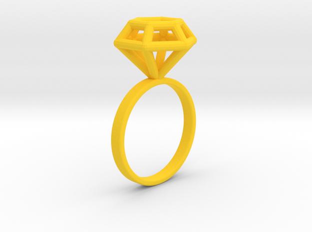 Wireframe Diamond Ring (size 7)