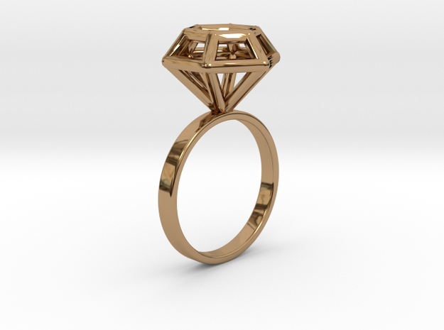 Wireframe Diamond Ring (size 7)