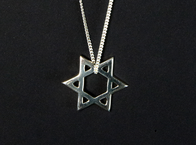 """Star of David"" pendant #Silver in Premium Silver"