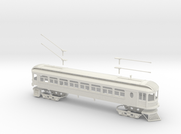 #64-6101 - Ohio Electric Combine S scale Kit in White Natural Versatile Plastic