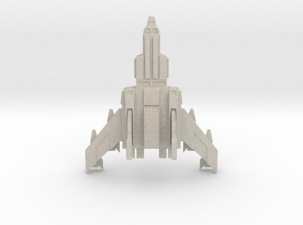 Jetfighter Print 3d Print in Natural Sandstone
