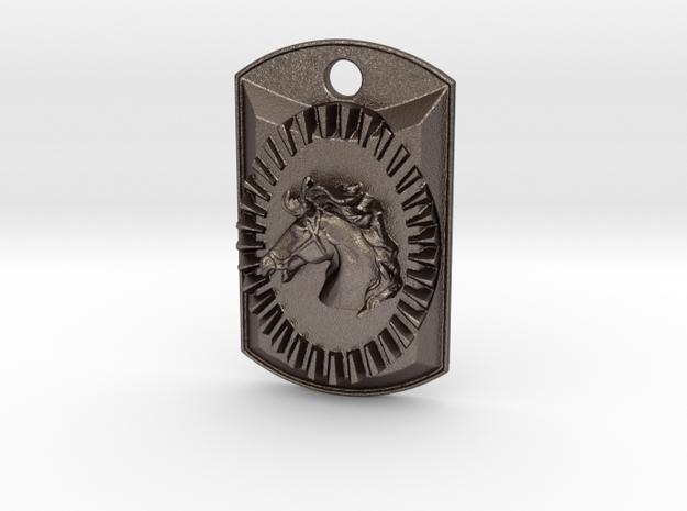 Denver Horse Power1 in Polished Bronzed Silver Steel