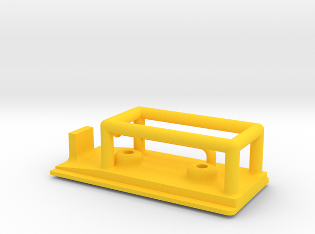 Geod Charge Bracket A in Yellow Processed Versatile Plastic