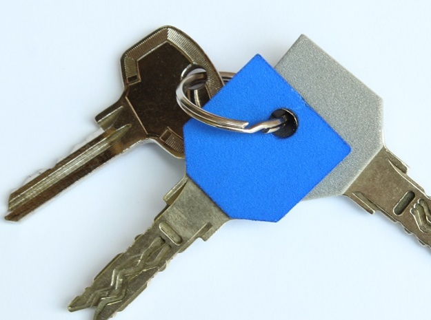 Key sleeve in Blue Strong & Flexible Polished