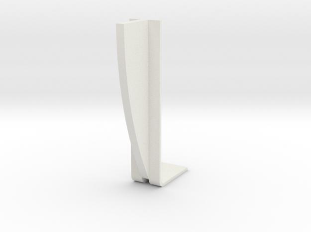 Single Rib in White Natural Versatile Plastic