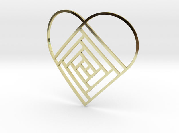 Quilt Block Log Cabin Pendant - Heart Edition 3d printed