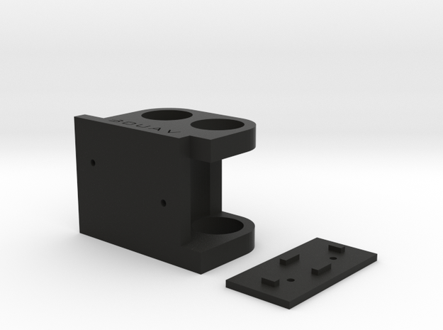 DJI F450 Low Profile Gimbal Mount in Black Natural Versatile Plastic