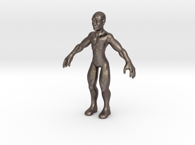 Character01-large in Polished Bronzed Silver Steel